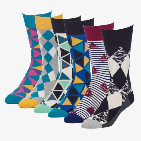 Pinwheel Agent Crew Sock // Pack of 6