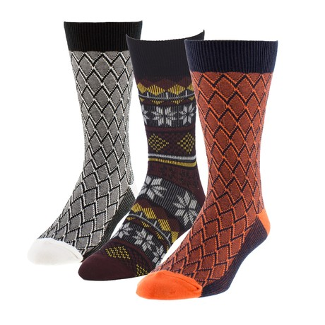 Zig Zag Nobleman Boot Sock // Pack of 3