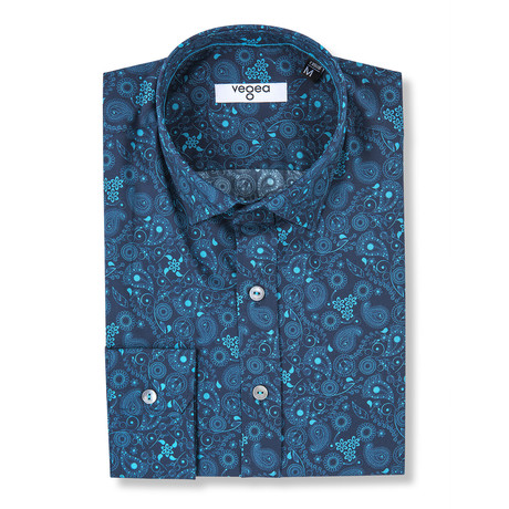 Tonino Floral Print Shirt // Blue (XS)