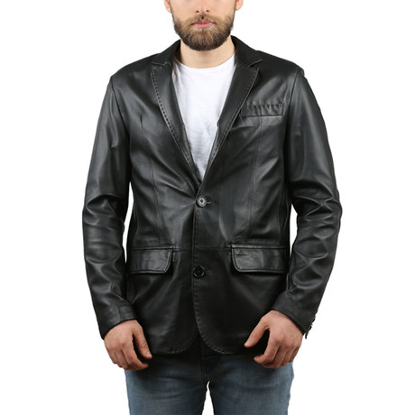 Natural Leather Jacket // Black (XS)