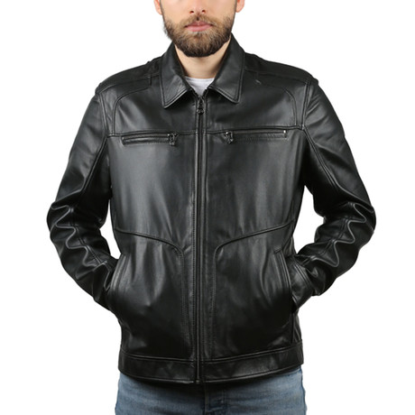 Grando Natural Leather Jacket // Black (XS)