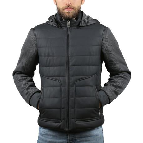 Tafta Leather Jacket II // Navy Blue (XS)