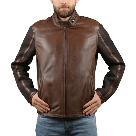 Michael Natural Leather Jacket // Light Brown (XS)