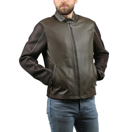 Melinda Leather Jacket // Green (XS)