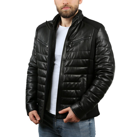 Louis Leather Jacket // Black (XS)
