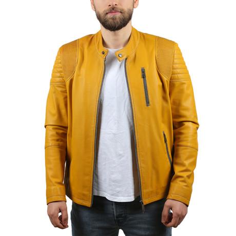Melinda Leather Jacket // Yellow (XS)