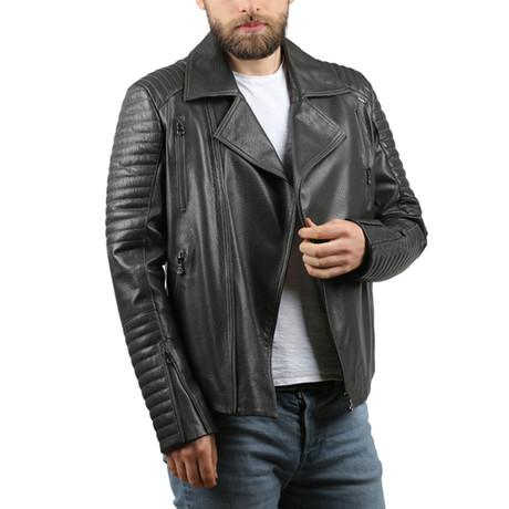 Vegas Leather Jacket // Gray (XS)