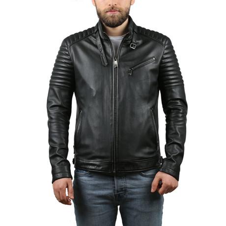 Enrique Natural Leather Jacket // Black (XS)