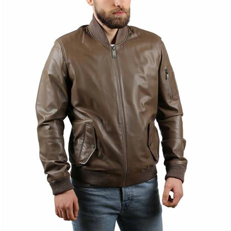 Papalina Leather Jacket // Mink (XS)