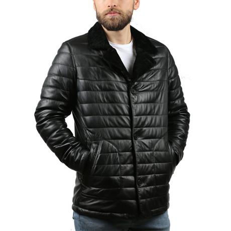 Cardi Natural Leather Jacket // Black (XS)