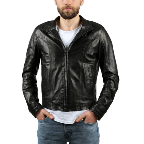 Cathedral Leather Jacket // Black (XS)