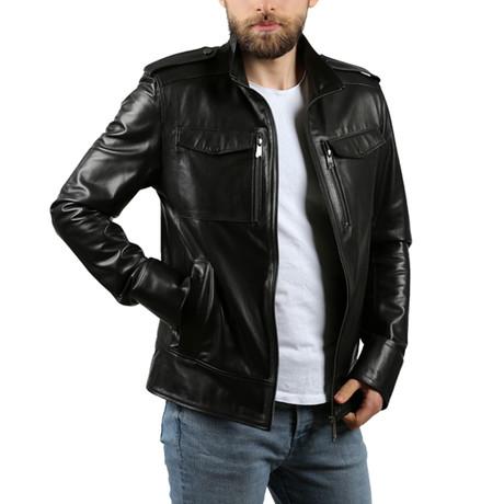 Manzel Leather Jacket // Black (2XL)