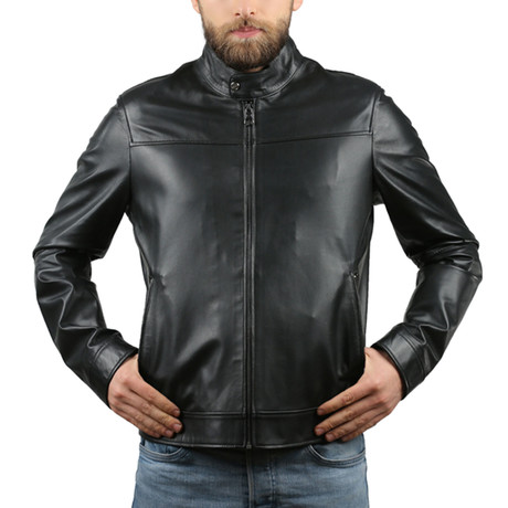 Lucielle Natural Leather Jacket // Black (XS)