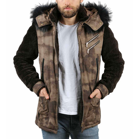 Army Leather Jacket // Mink (XS)