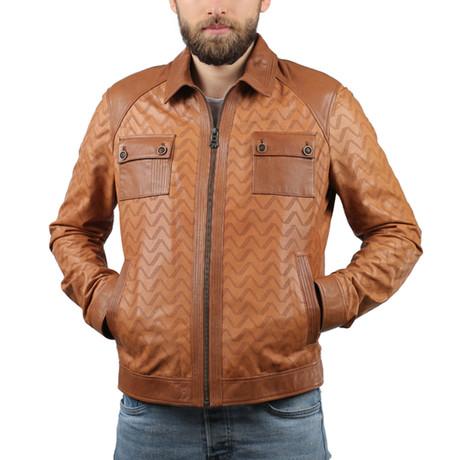 Perfofe Leather Jacket // Whiskey (XS)