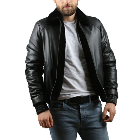 Isaiah Natural Leather Jacket // Black (XS)