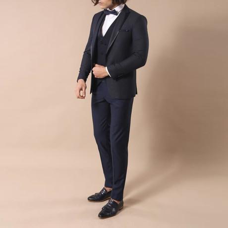 Ricky 3-Piece Slim Fit Suit // Navy (Euro: 44)