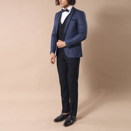 Edwin Slim Fit 3-Piece Tuxedo // Navy (Euro: 44)