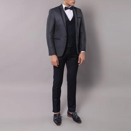 Diego Slim Fit 3-Piece Tuxedo // Navy (Euro: 44)