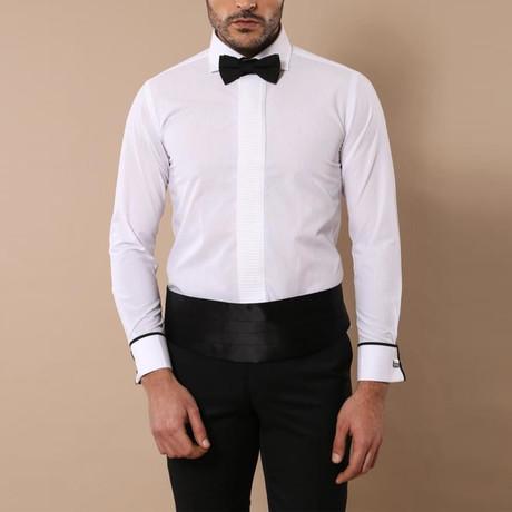 Xavier Tuxedo Shirt // White (XS)