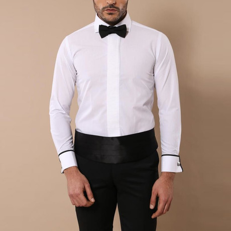 Xavier Tuxedo Shirt // White (S)
