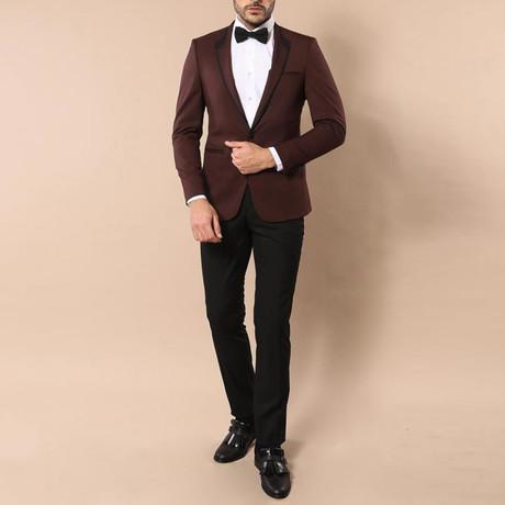 Dorian Slim Fit 2-Piece Tuxedo // Burgundy (Euro: 44)