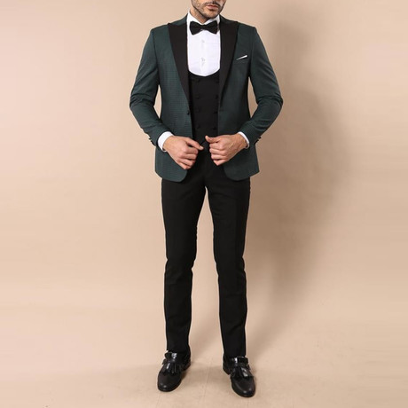Anderson Slim Fit 3-Piece Tuxedo // Green (Euro: 44)