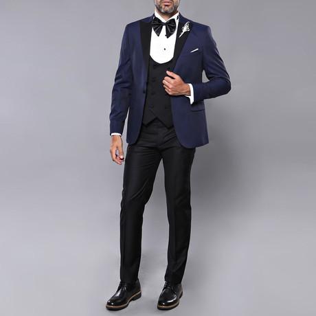 Daryl Slim Fit 3-Piece Tuxedo // Navy (Euro: 44)