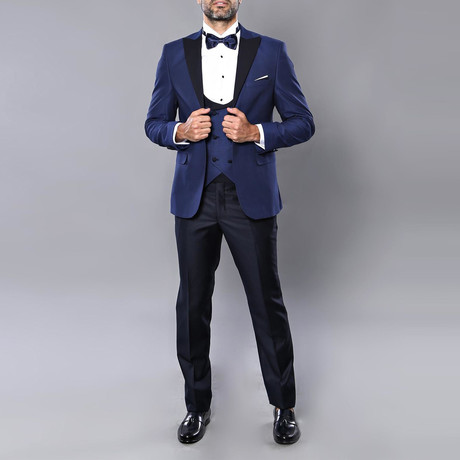 Nathan Slim Fit 3-Piece Suit // Navy (Euro: 44)