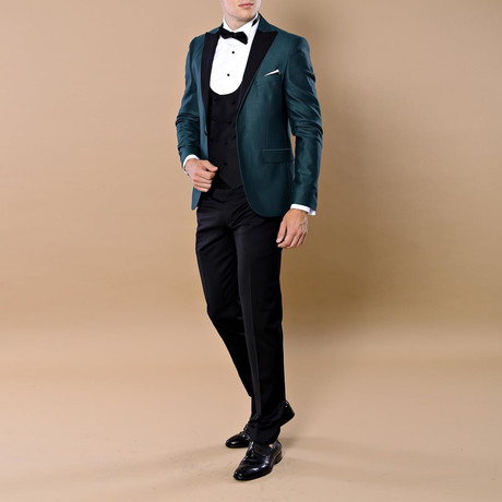 Trevor 3-Piece Slim Fit Suit // Green (Euro: 44)