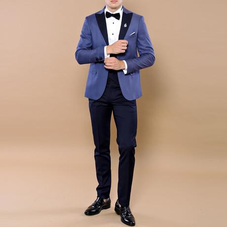 Rodrick Slim Fit 3-Piece Tuxedo // Blue (Euro: 44)