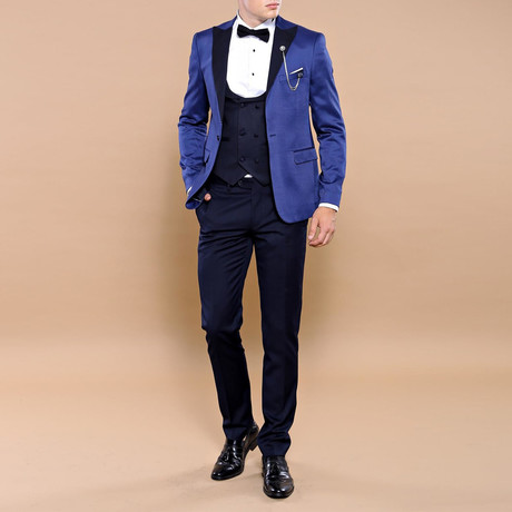 Rodrick 3-Piece Slim Fit Suit // Blue (Euro: 44)