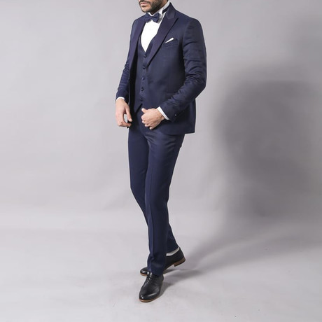Rodney 3-Piece Slim Fit Suit // Navy (Euro: 46)