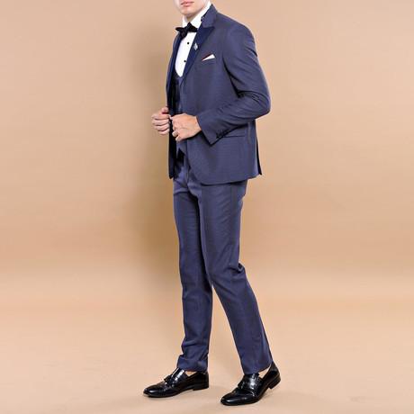 Kadin Slim Fit 3-Piece Tuxedo // Navy (Euro: 44)