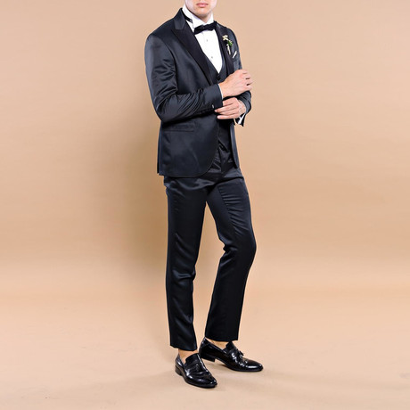 Barney Slim Fit 3-Piece Tuxedo // Green (Euro: 44)