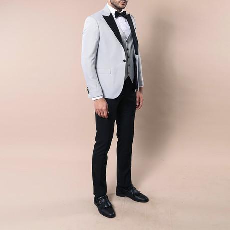 Rex Slim Fit 3-Piece Tuxedo // Gray (Euro: 44)