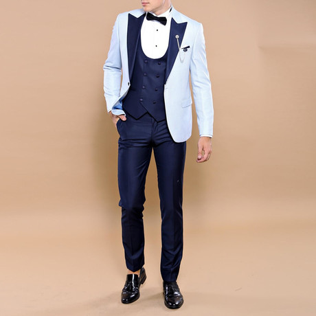 Hai Slim Fit 3-Piece Tuxedo // Light Blue (Euro: 44)