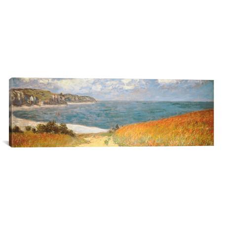 """Path Through The Corn At Pourville // Claude Monet (36""""W x 12""""H x 0.75""""D)"""