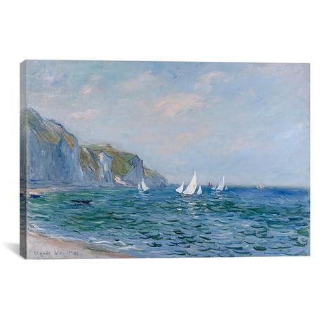 "Cliffs and Sailboats at Pourville (18""W x 12""H x 0.75""D)"