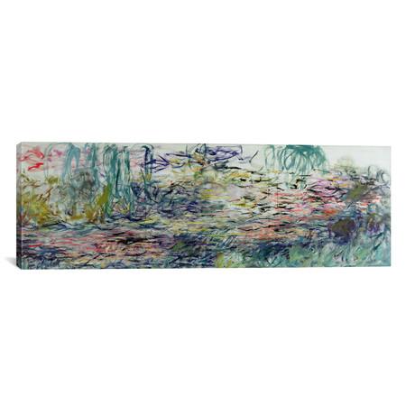 "Waterlilies, 1917-19 // Claude Monet (36""W x 12""H x 0.75""D)"
