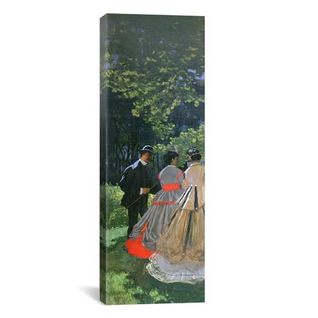 """Dejeuner sur L'Herbe, Chailly, 1865 // Claude Monet (12""""W x 36""""H x 0.75""""D)"""
