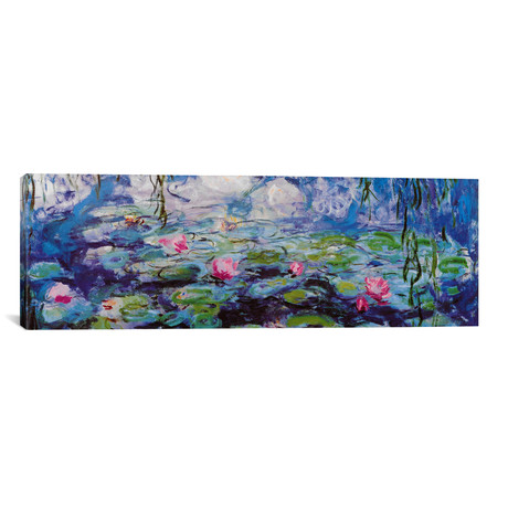 "Nympheas // Claude Monet (36""W x 12""H x 0.75""D)"