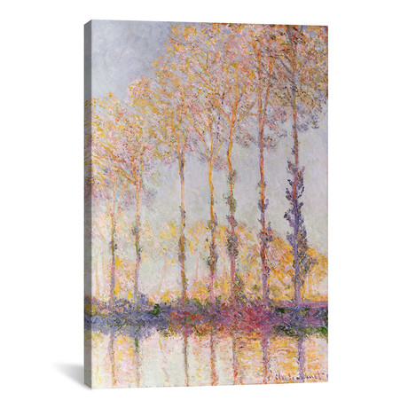 """Poplars on the Banks of the Epte, 1891 (12""""W x 18""""H x 0.75""""D)"""