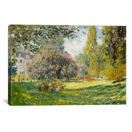 """Landscape: The Parc Monceau (18""""W x 12""""H x 0.75""""D)"""