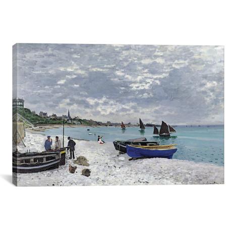 """The Beach at Sainte-Adresse, 1867 (18""""W x 12""""H x 0.75""""D)"""