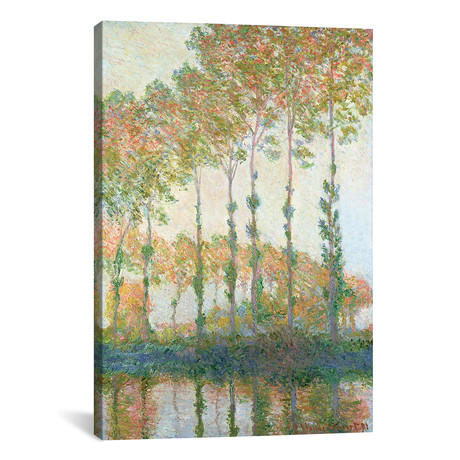 """Poplars on the Banks of the Epte, Autumn, 1891 (12""""W x 18""""H x 0.75""""D)"""