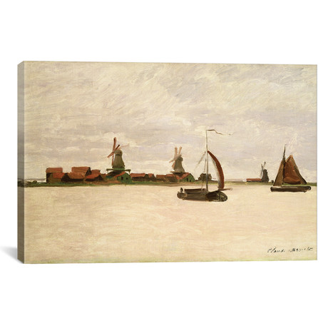"The Outer Harbour at Zaandam, 1871 (18""W x 12""H x 0.75""D)"