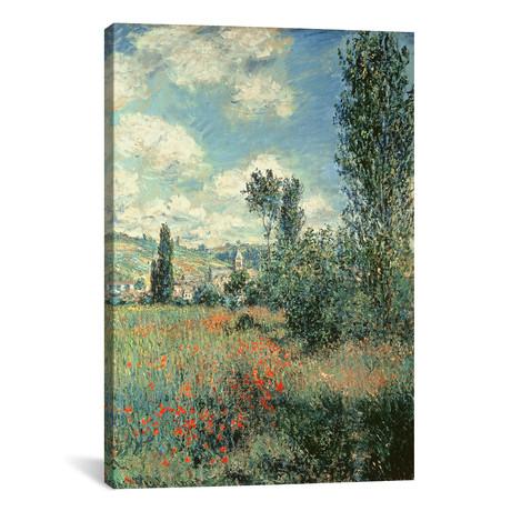 "Path through the Poppies, Ile Saint-Martin, Vetheuil, 1880 (12""W x 18""H x 0.75""D)"