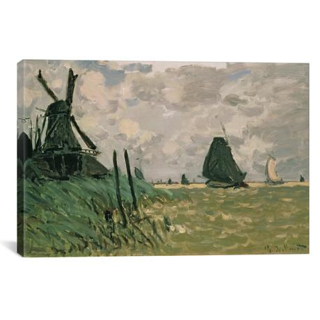 """A Windmill near Zaandam, 19th century (18""""W x 12""""H x 0.75""""D)"""