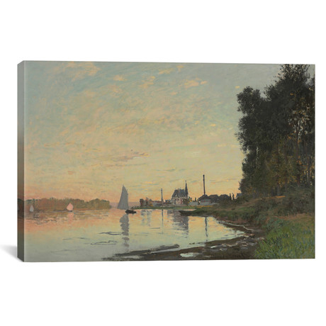 """The End of the Afternoon, Argenteuil, 1872 (18""""W x 12""""H x 0.75""""D)"""
